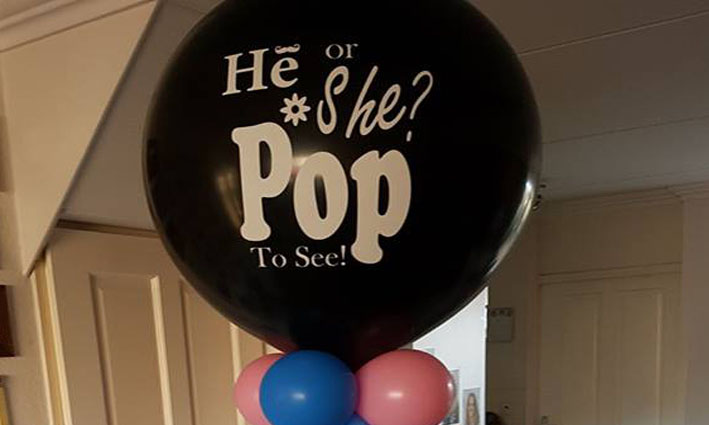 BalloonXL Gender Reveal Ballon